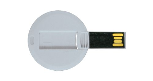 Mini Cards Shaped USB Flash Drives - Round 8 GB