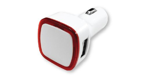 USB Car Charger Red