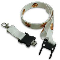 USB Lanyard 2 cm White Color with Hook 4GB