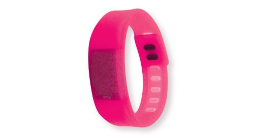 Wristband with Digital Watch Pink