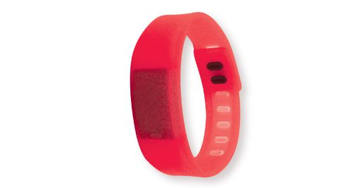 Wristband with Digital Watch Red