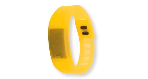 Wristband with Digital Watch Yellow
