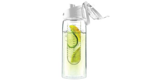 Bottles with Fruit Infuser White