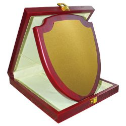 Wooden Plaque with Box Vertical Size